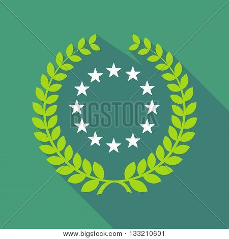 Long Shadow Laurel Wreath Icon With  The Eu Flag Stars