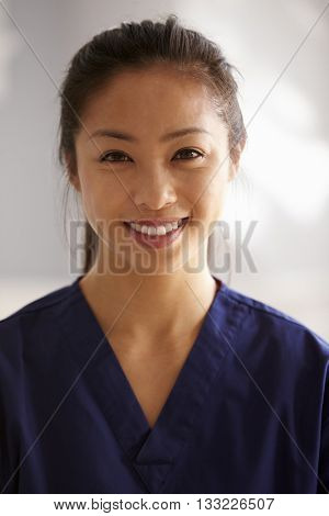 Portrait Of Nurse In Assisted Living Project