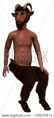 Satyr CGI, 3D render, on white background