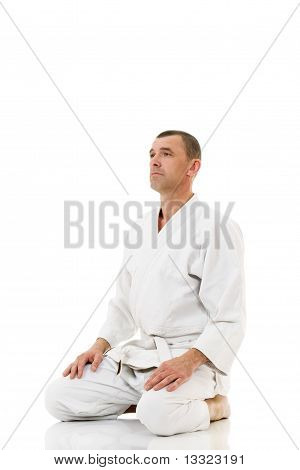 Martial Arts Master Meditating