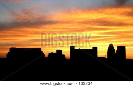 Louisville Silhouetted Sunset