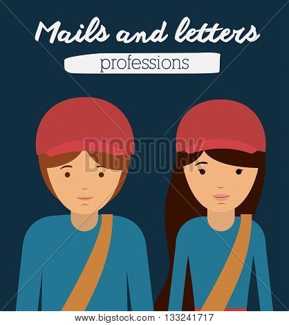 deliverer profession design, vector illustration eps10 graphic