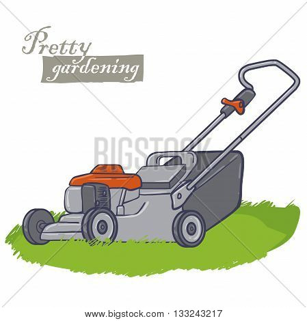 garden electric tools, a machine for cutting the grass on a lawns, lawn-mower