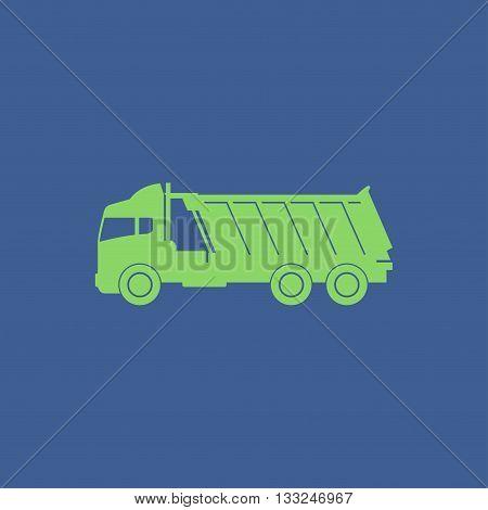 Truck icon. Vector concept illustration for design