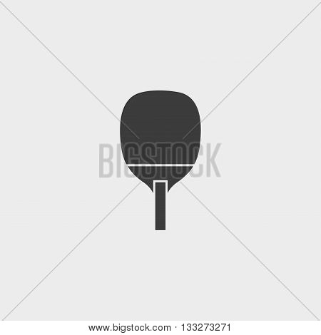 Ping pong table tennis icon in a flat design in black color. Vector illustration eps10