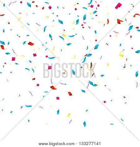 Confetti vector background for holidays party events, vector illustartion.