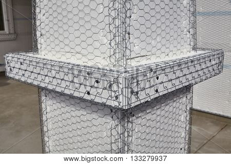 Home Building Industry House Post Column Ledger Stucco Mesh Detail