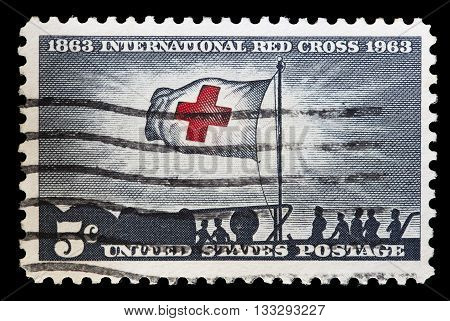 United States Used Postage Stamp For International Red Cross