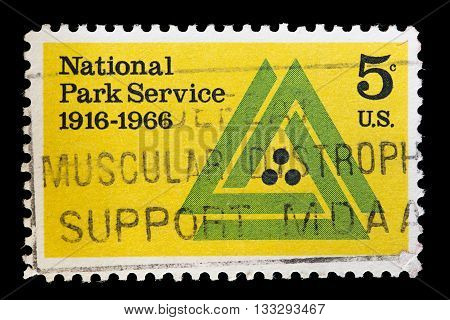 United States Used Postage Stamp For The National Park Service