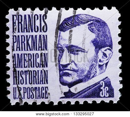 United States Used Postage Stamp Showing Francis Parkman