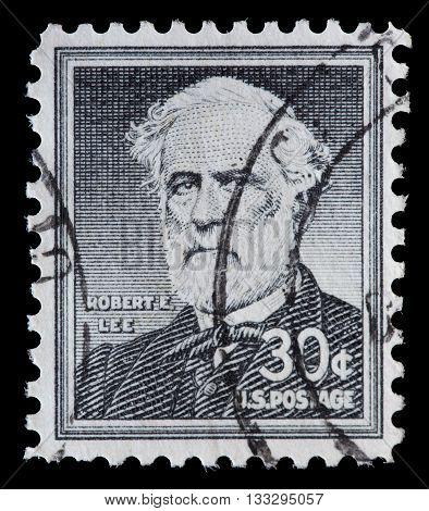 United States Used Postage Stamp Showing General Robert Edward Lee
