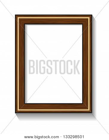 Photorealistic vector illustration of a frame with shadow for photos or other designs.