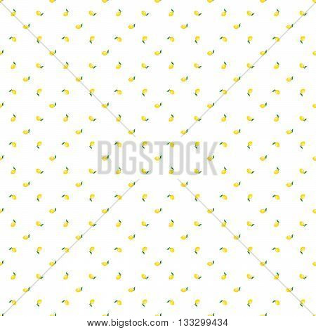 The pattern is from fresh lemons on a white background