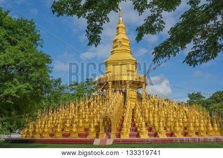 Pagoda in Sawang-Bun temple Saraburi province Thailand.