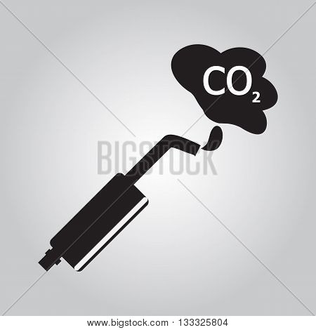 Car exhaust smoke sign icon vector illustration