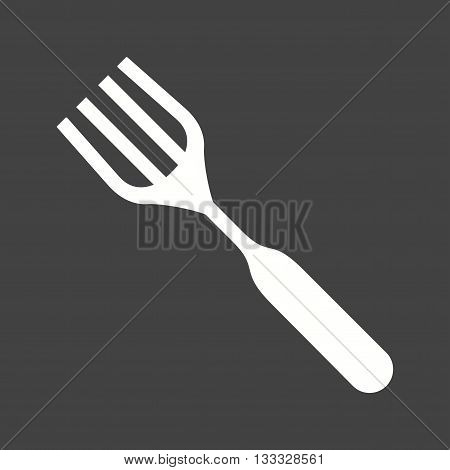 Fork, silver, kitchen icon vector image. Can also be used for kitchen. Suitable for use on web apps, mobile apps and print media.