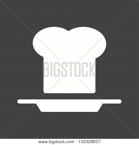 Chef, hat, plate icon vector image. Can also be used for kitchen. Suitable for use on web apps, mobile apps and print media.