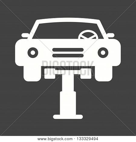 Car, mechanic, lift icon vector image. Can also be used for car servicing. Suitable for use on web apps, mobile apps and print media.