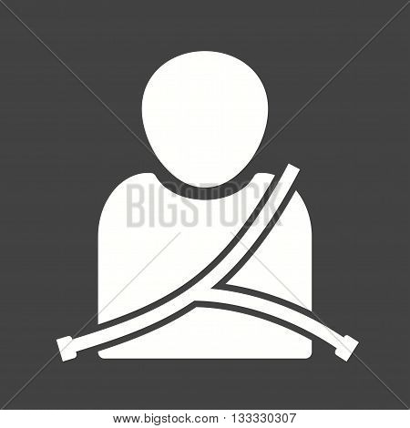 Seat, belt, car icon vector image. Can also be used for car servicing. Suitable for use on web apps, mobile apps and print media.
