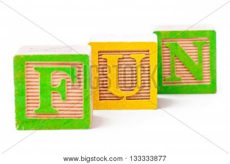 Building Blocks Arranged To Forma A Word Fun