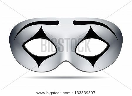 Pierrot carnival mask on white background. Vector illustration