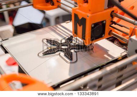 Detail Of 3D Printer At Technology Hub In Milan, Italy