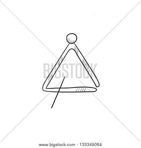 Triangle vector sketch icon isolated on background. Hand drawn Triangle icon. Triangle sketch icon for infographic, website or app.
