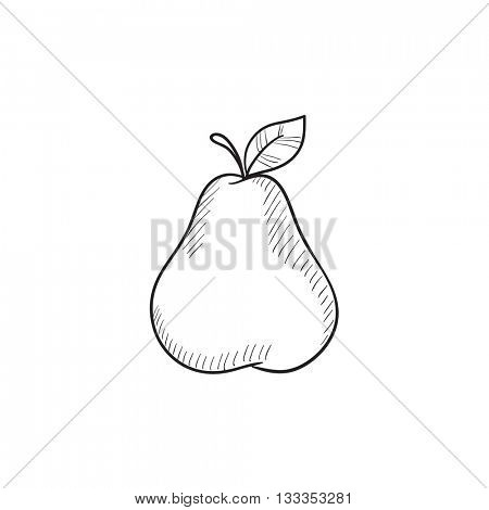 Pear  vector sketch icon isolated on background. Hand drawn Pear  icon. Pear  sketch icon for infographic, website or app.