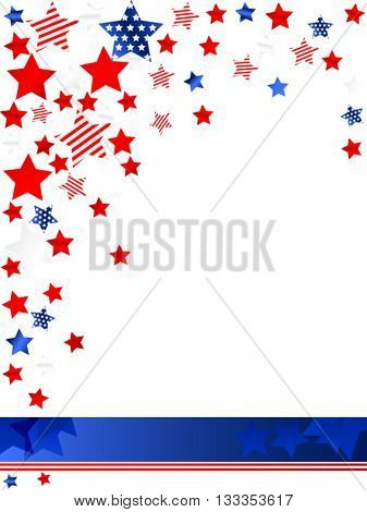 US patriotic card