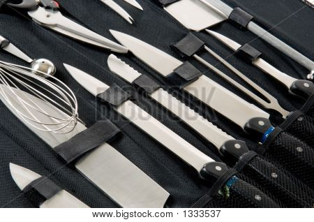 Professional Chef'S Knife Set In Black Case