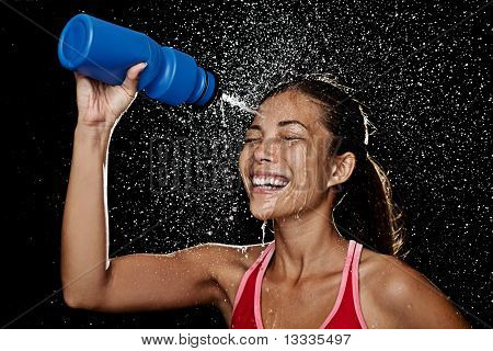 Fitness Runner Woman Drinking