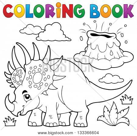 Coloring book dinosaur topic 2 - eps10 vector illustration.