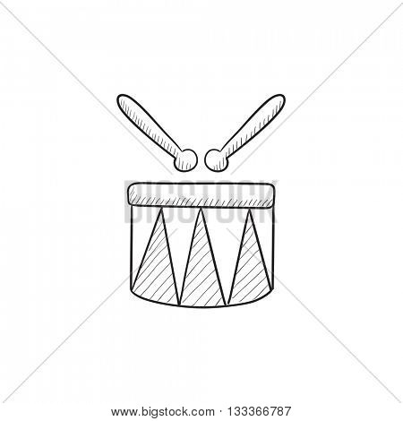Circus drum vector sketch icon isolated on background. Hand drawn Circus drum icon. Circus drum sketch icon for infographic, website or app.