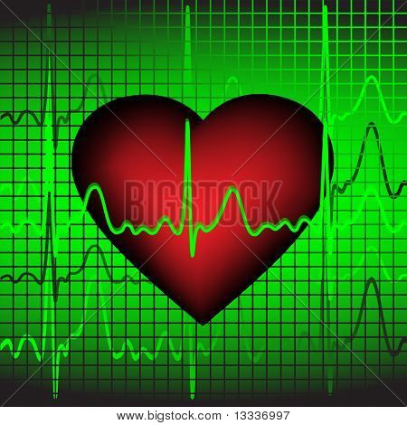 The heartbeat, vector illustration