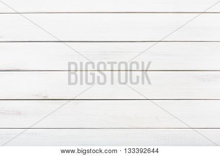 White wood floor texture and background. White painted wood texture background. Rustic, shabby chick wooden background. Aged wood planks pattern. Wooden surface. Horizontal timber texture
