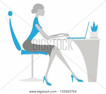 Office woman. Vector businesswoman on white background