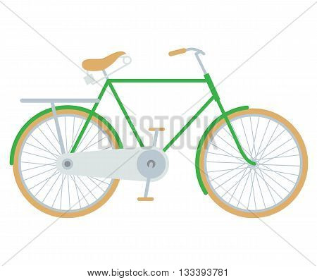 Bike. Vector illustration of bicycle isolated on white background