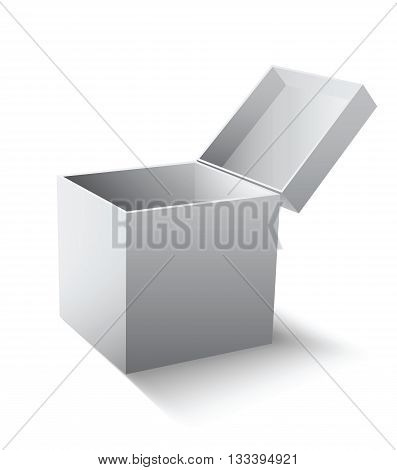 Empty gift box. Vector illustration isolated on white