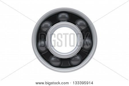 Ball bearing isolated with clipping path on white background. 3d rendering