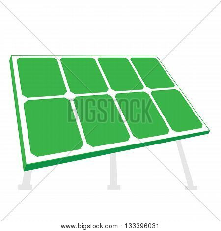 Solar panel. Vector illustration isolated on white background
