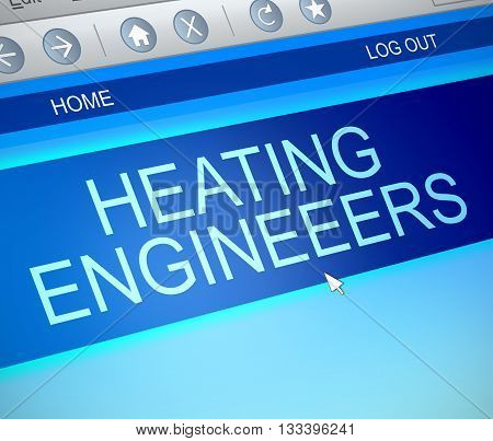 Heating Engineer Concept.