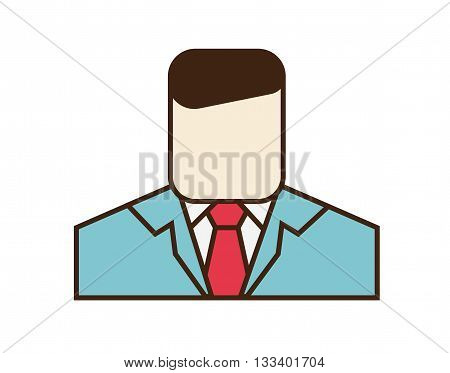 Manager icon. Vector sign of a man isolated on white background