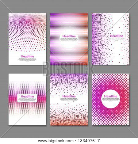 Dotted flyer deisgn template. Brochure cover book layout  mockup.