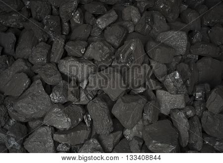 Big heap of coal for the furnace. Coals background