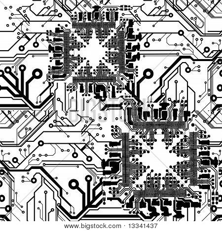 Seamless Printed Circuit Board Pattern