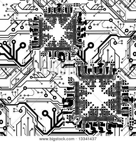 Seamless Printed Circuit Board Pattern