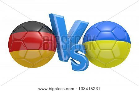 Football competition between national teams Germany and Ukraine, 3D rendering