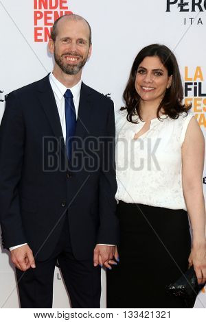 LOS ANGELES - JUN 7:  David Leslie Johnson, Wife at the 2016 Los Angeles Film Festival - The Conjuring 2 Premiere at TCL Chinese Theater IMAX on June 7, 2016 in Los Angeles, CA
