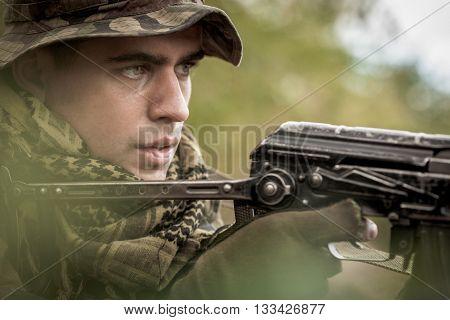 Focused On His Target