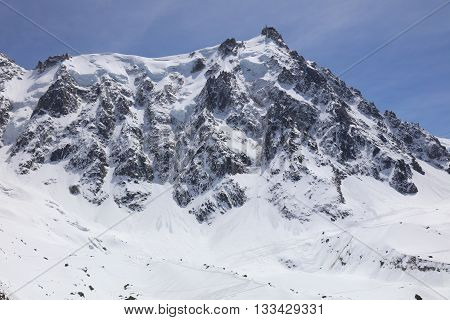 Summit of Aiguille du midi in the French Alps